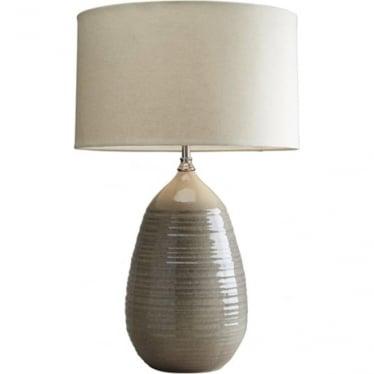 Lui's Collection Belinda Beige Ceramic Lamp