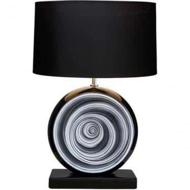 Lui's Collection Black and White Swirl Lamp - Base only