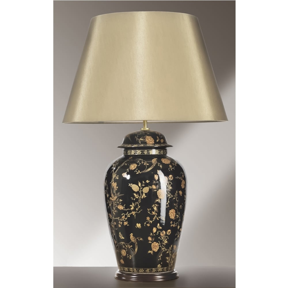 Elstead lighting luis collection black birds temple jar table elstead lighting luis collection black birds temple jar table lamp base only geotapseo Choice Image