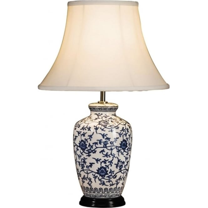 Elstead Lighting Lui's Collection Blue and White Ginger Jar Table Lamp - Base only