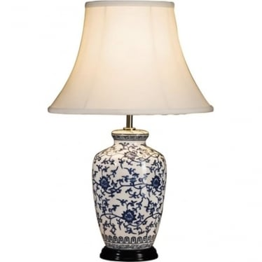 Lui's Collection Blue and White Ginger Jar Table Lamp - Base only