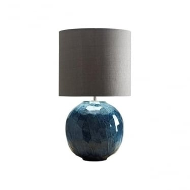Lui's Collection Blue Globe Lamp - Base only
