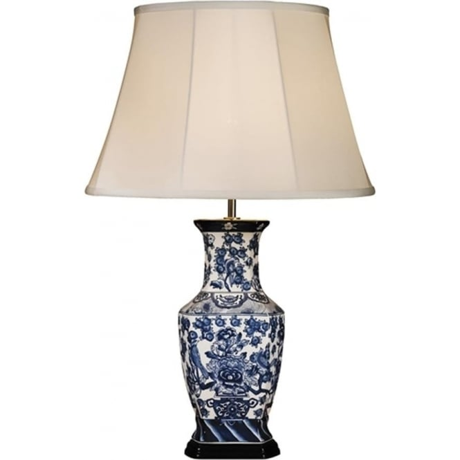 Elstead Lighting Lui's Collection Blue Hexagon Vase Table Lamp - Base only
