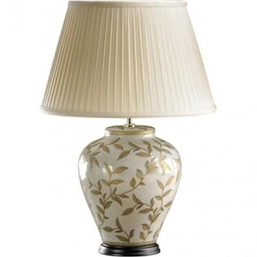 Lui's Collection Brown and Gold Leaves Lamp - Base only