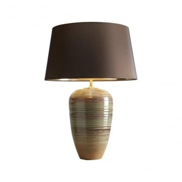 Lui's Collection Demeter Green and Brown Table Lamp