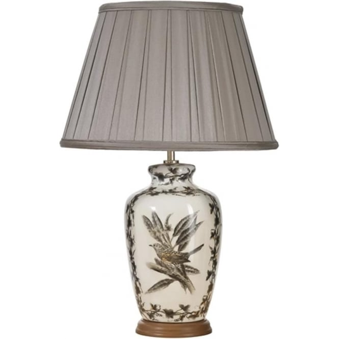Elstead Lighting Lui's Collection Etched Birds Table Lamp