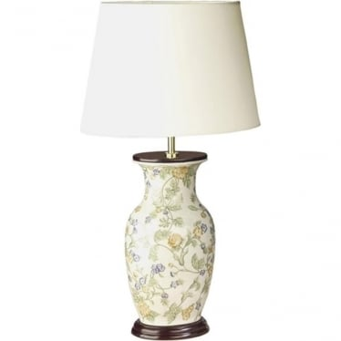 Lui's Collection Forget-me-Not Blue Flowers Table Lamp