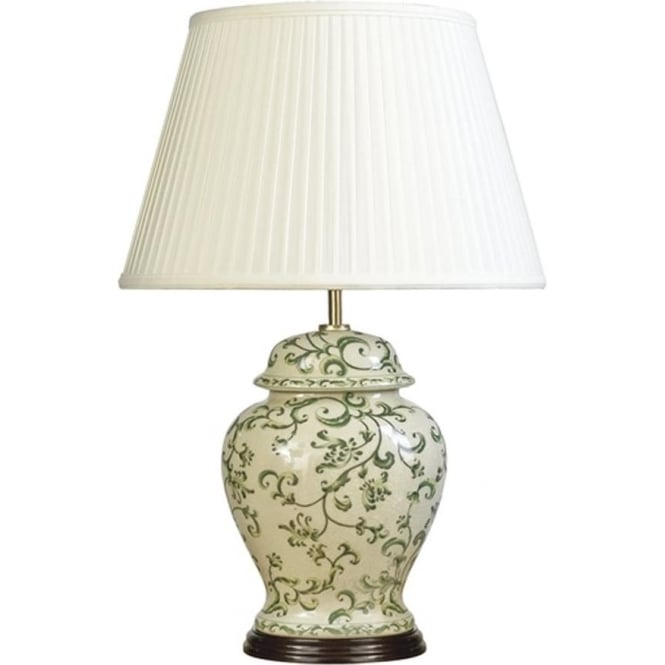 Elstead Lighting Lui's Collection Green Leaves Table Lamp - Base only