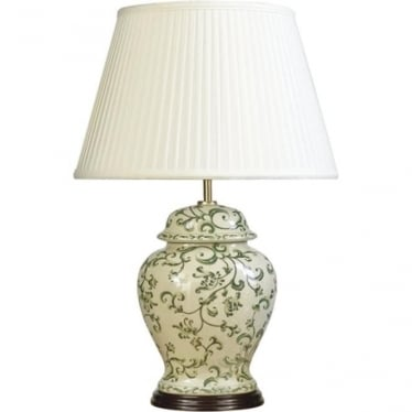Lui's Collection Green Leaves Table Lamp