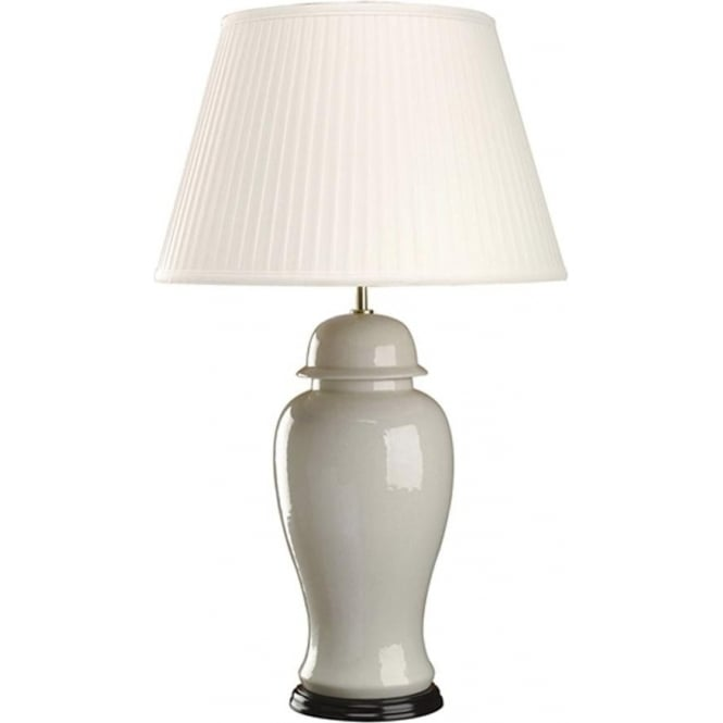 Elstead Lighting Lui's Collection Ivory Crackle Large Temple Jar Table Lamp - Base only