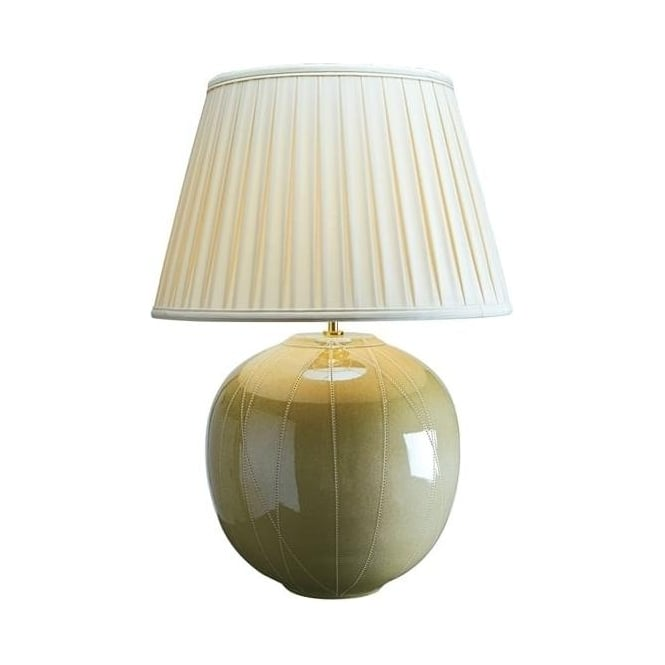Elstead Lighting Lui's Collection Large Green Canteloupe Table Lamp