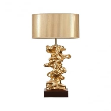 Lui's Collection Libero Gold Leaf Table Lamp