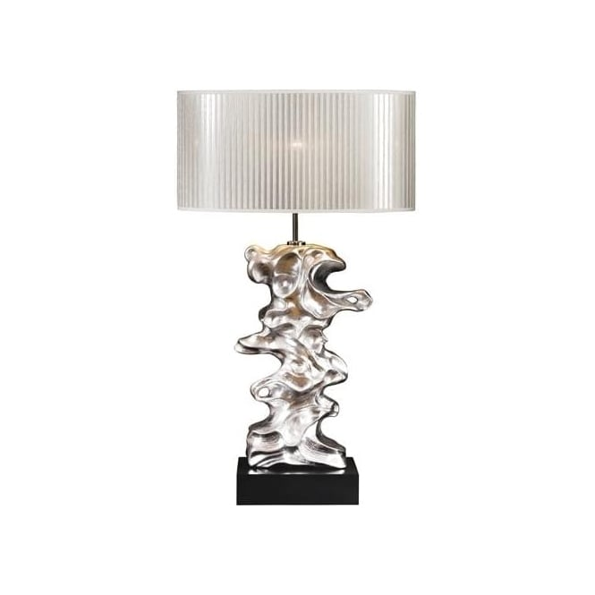 Elstead Lighting Lui's Collection Libero Silver Leaf Table Lamp