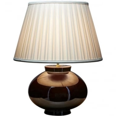 Lui's Collection Metallic Brown Lustre Table Lamp - Base only