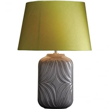 Lui's Collection Muse Grey Lamp with Lime Shade