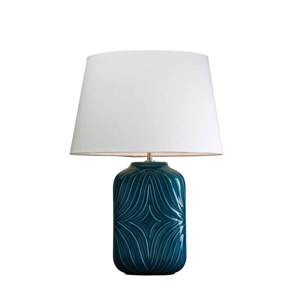 Luiu0026#039;s Collection Muse Turquoise Lamp   Base Only