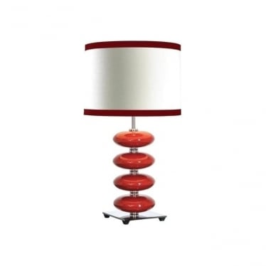 Lui's Collection Onyx Red Table Lamp