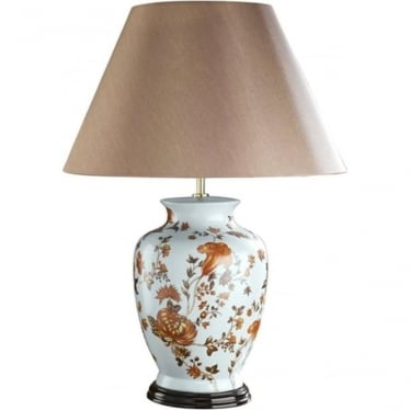 Lui's Collection Orange Flower Table Lamp