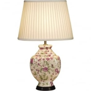 Lui's Collection Pink Carnations Table Lamp - Base only