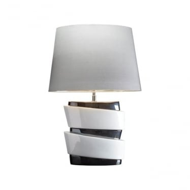 Lui's Collection Pisa Stacked White and Graphite Lamp