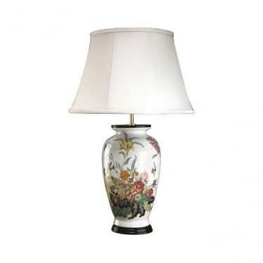 Luis collection rose table lamp base only elstead lighting