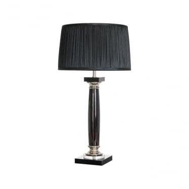 Lui's Collection Simona Nero Black Crystal Column Table Lamp
