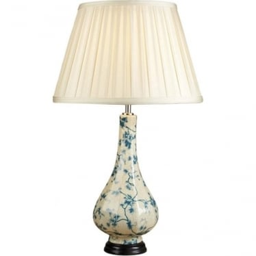Lui's Collection Teal Leaves Table Lamp