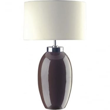 Lui's Collection Victor Small Brown Table Lamp