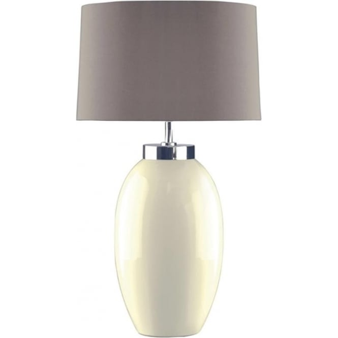 Elstead Lighting Lui's Collection Victor Small Cream Table Lamp - Base only