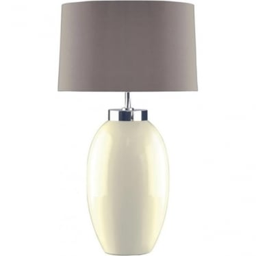 Lui's Collection Victor Small Cream Table Lamp