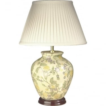 Lui's Collection Yellow Purple Flowers Table Lamp