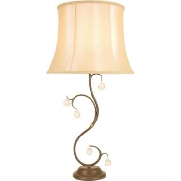 Elstead Lighting Lunetta Table Lamp Bronze - Shade included