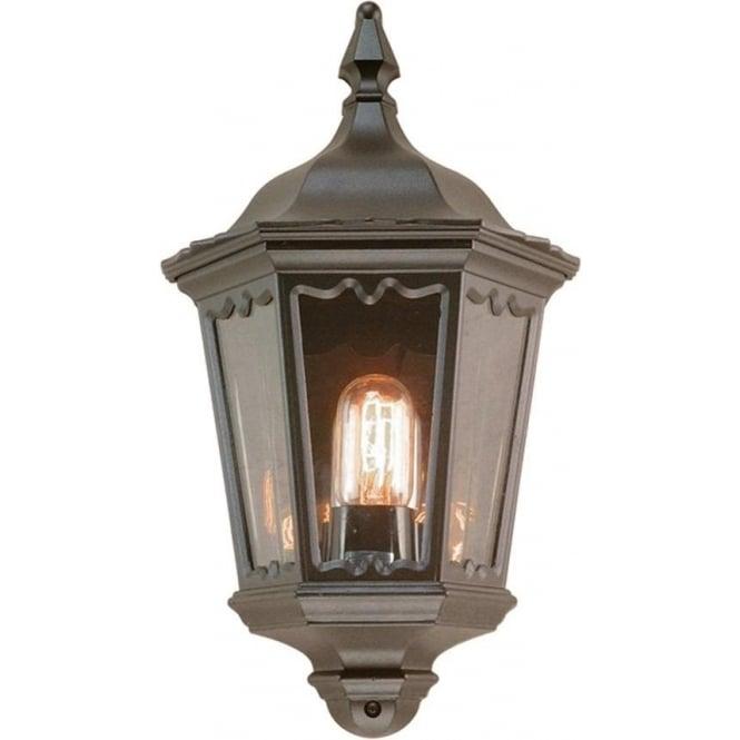 Elstead Lighting Medstead Half Lantern - Black