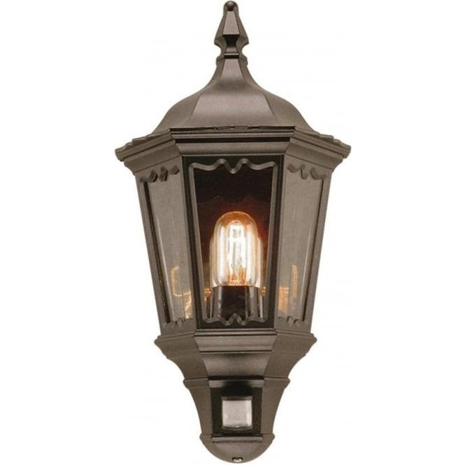 Elstead Lighting Medstead Half Lantern  with PIR - Black