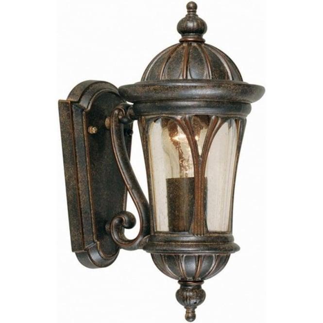 Elstead Lighting New England Wall Lantern Small - Weathered Bronze
