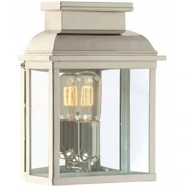 Old Bailey Wall Lantern - Polished Nickel