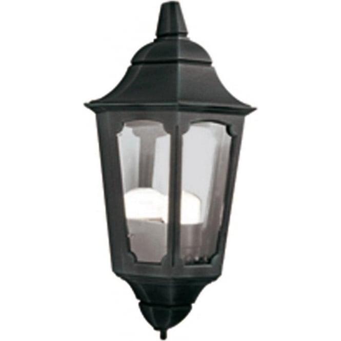 Elstead Lighting Parish Half Lantern - Black