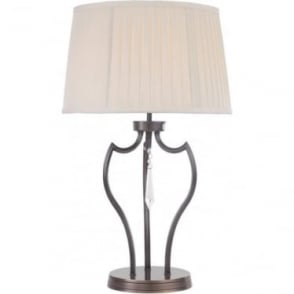 Elstead Lighting Pimlico Table Lamp in Dark Bronze - Shade included