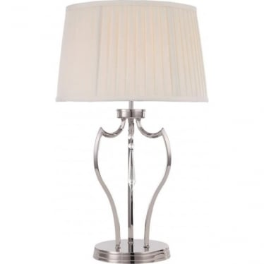 Elstead Lighting Pimlico Table Lamp in Polished Nickel - Shade included