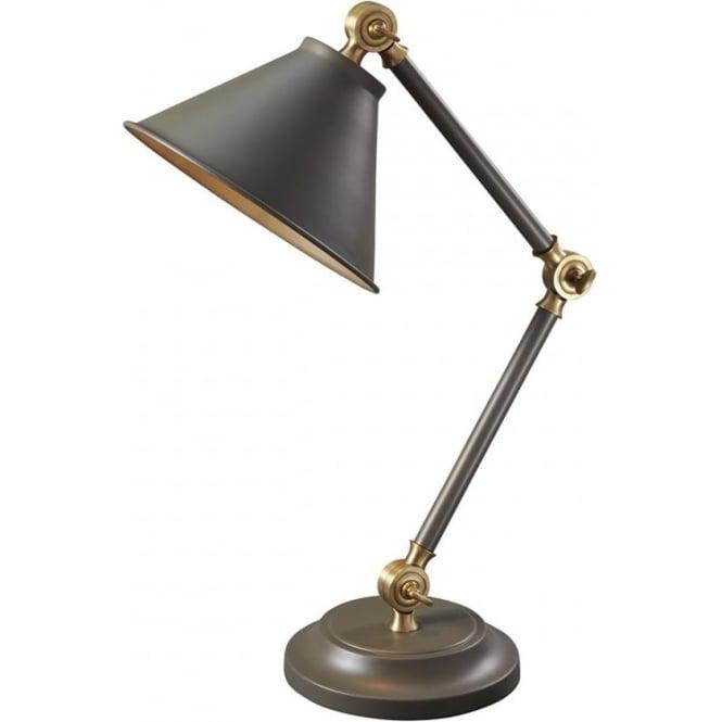 Elstead Lighting Provence Element Mini Table Lamp Dark Grey/Aged Brass