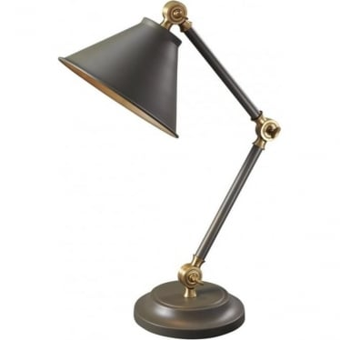 Provence Element Mini Table Lamp Dark Grey/Aged Brass