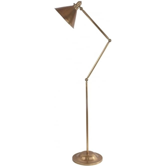 Elstead Lighting Provence Floor Lamp Aged Brass