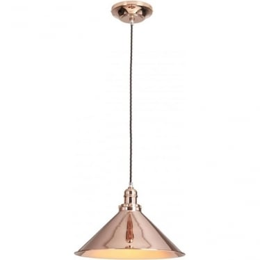 Provence Single Pendant Polished Copper