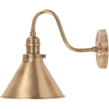 Provence Single Wall Light Aged Brass