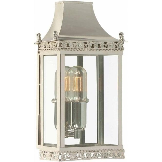 Elstead Lighting Regents Park Wall Lantern - Polished Nickel