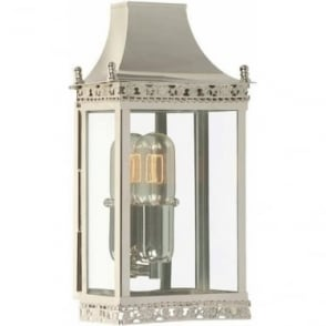 Regents Park Wall Lantern - Polished Nickel