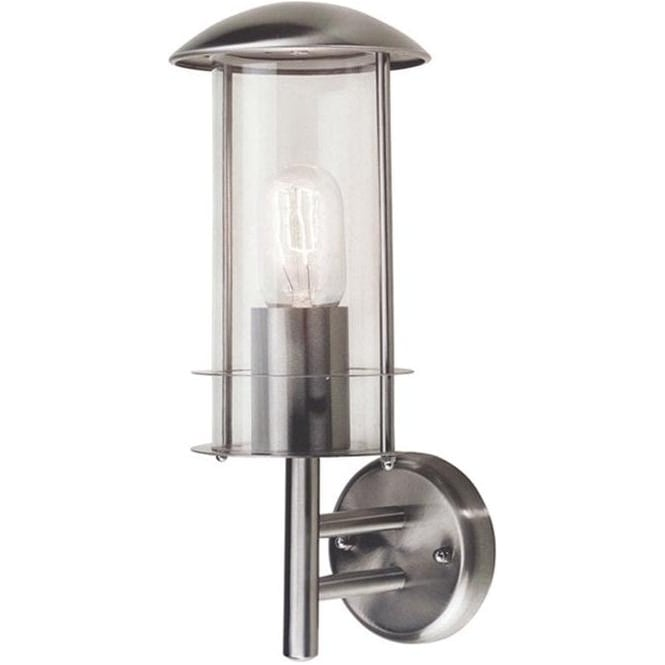 Elstead Lighting Scandinavian Bruges wall lantern - Stainless Steel