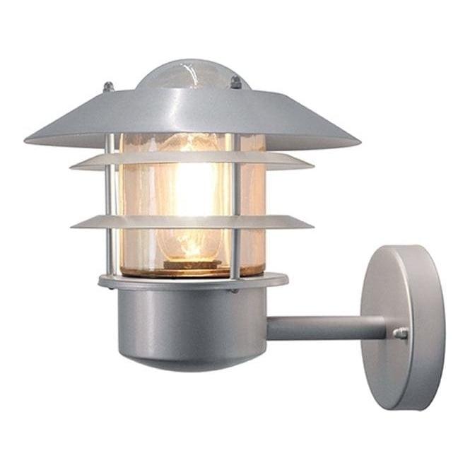 Elstead Lighting Scandinavian Helsingor wall lantern - Silver