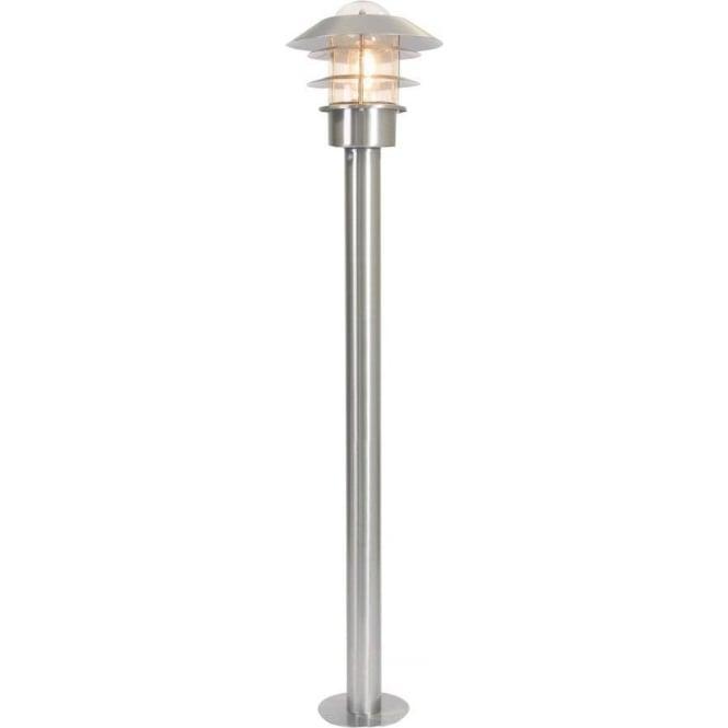 Elstead Lighting Scandinavian Helsinki bollard lantern - Stainless Steel