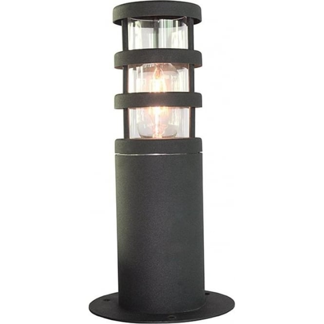 Elstead Lighting Scandinavian Hornbaek pedestal lantern - Black